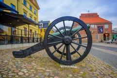 Kristianstad,美丽如画的城市在瑞典 免版税库存照片