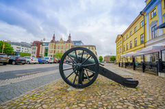 Kristianstad,美丽如画的城市在瑞典 图库摄影
