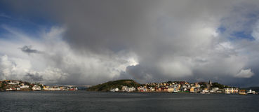 kristiansund挪威视图 库存照片