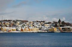 kristiansund στην όψη Στοκ εικόνα με δικαίωμα ελεύθερης χρήσης
