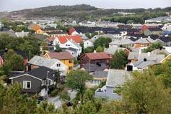 Kristiansund liten stad i Norge Royaltyfria Foton