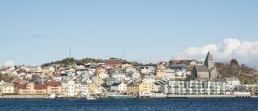 Kristiansund som är panorama- Arkivfoto