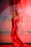 Kristin Cavallari geht die Rollbahn am Gehungs-Rot für Frauen-rote Kleidersammlung 2015 Stockbild