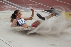 Kristina Bujin - triple jump Stock Photo