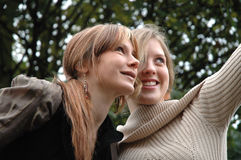 Kristina e Rebecca18 Fotografia Stock