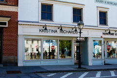 Kristina Richards Clothing Boutique, located on Touro Street in Newport, RI. Royalty Free Stock Photo