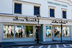 Kristina Richards Clothing Boutique, located on Touro Street in Newport, RI. Stock Photo