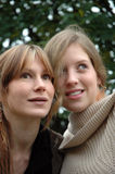 Kristina und Rebecca35 lizenzfreies stockbild