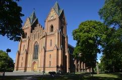 Kristinehamn-Kirche Schweden lizenzfreie stockbilder