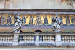 kristna medeltida mosaik Arkivbild