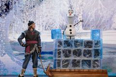 Kristoff and Olaf Stock Photography
