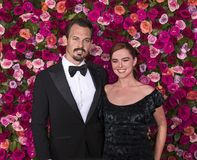 Kristopher Brock and Zoey Deutch at 2018 Tony Awards Stock Image