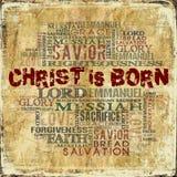 Kristus är född Royaltyfri Bild