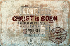 Kristus är född julbakgrund Fotografering för Bildbyråer