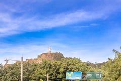 Kristus av förskoningstatyn som lokaliseras i staden av San Juan D Royaltyfria Bilder
