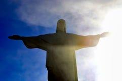 Kristus Förlossare Corcovado Rio de Janeiro Arkivfoton