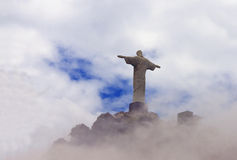 Kristus Förlossare i moln, Rio de Janeiro Royaltyfri Bild