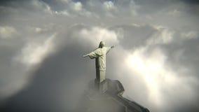 Kristus Förlossare i Rio de Janeiro längd i fot räknat arkivfilmer
