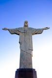 Kristus Förlossarestatycorcovadoen Rio de Janeiro Brasilien Royaltyfri Foto