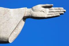 Kristus Förlossarestatycorcovadoen Rio de Janeiro Brasilien Arkivfoto