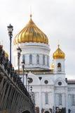 Kristus frälsarekyrkan i Moscow Arkivbilder