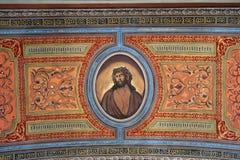 Kristus huvud med en krona av taggar royaltyfria bilder