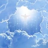 Kristus i sky, easter Arkivbilder