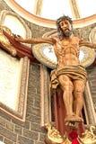 Kristus i trä Royaltyfri Bild