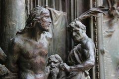 Kristus smärtar in Arkivbild