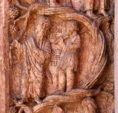 Kristus som utför arbeten av förskoninglättnad på dopkapellet i Parma Royaltyfri Bild
