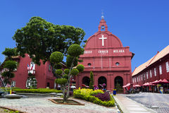 Kristuskyrka i Malacca Arkivbilder