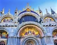 Kristusuppståndelse mosaiska St Mark & x27; s-kyrka Venedig Italien Arkivbilder