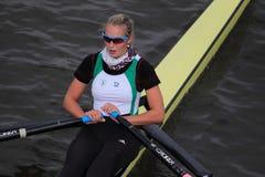 Kristyna Fleissnerova - 100a raza del rowing de Primatorky Imagen de archivo