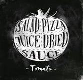 Krita för tomatklippintrig royaltyfri illustrationer