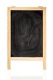 Krita gniden ut på den isolerade svart tavla Royaltyfria Bilder