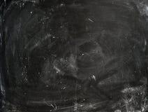 Krita gniden ut på svart tavla Arkivfoton