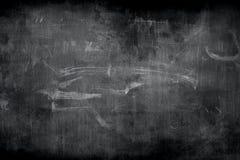 Krita gniden ut på svart tavla Arkivbilder