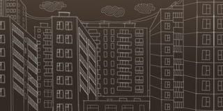 Krita på en blackboard framförande 3d stock illustrationer