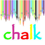 Kritaaffisch som målas med pastellfärgade färgpennor vektor illustrationer