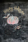 Kritabild lyckliga halloween Royaltyfri Foto