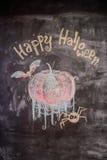 Kritabild lyckliga halloween Royaltyfria Foton