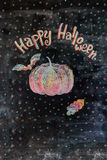 Kritabild lyckliga halloween Arkivfoto