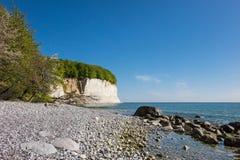 Kritaklippa på ön Ruegen Arkivbilder