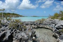 Kritaljud, turker & Caicos Royaltyfri Bild
