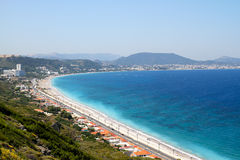Kritika Coast of Rhodes. Kritika coast photo captured near Acropolis in Rhodes island,Greece Stock Photo