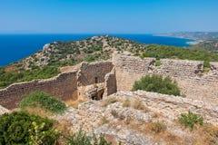 Kritinia Castle. Rhodes, Greece Stock Photography