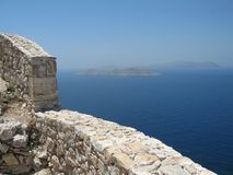 Kritinia Castle, Rhodes Island, Greece Royalty Free Stock Photography