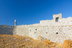 Kritinia castle, Rhodes island Stock Photography