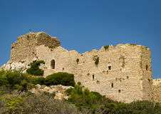 Kritinia Castle on the west of Rhodes Island Stock Images