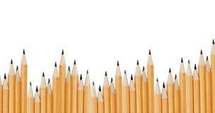 Kritisera blyertspennor som isoleras på vit bakgrund Arkivbild